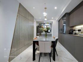 100平米三室两厅现代简约风格餐厅设计图