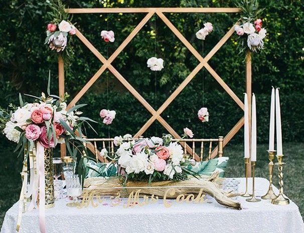 春季婚礼双人餐桌设计最完美浪漫的爱之桌