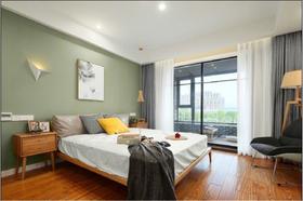 富裕型130平米三室一厅北欧风格卧室欣赏图