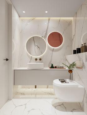 90平米三室一厅现代简约风格卫生间图