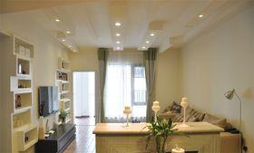 富裕型130平米三室一厅现代简约风格客厅效果图