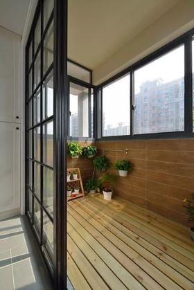 富裕型100平米三室一厅现代简约风格阳台图片