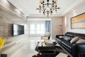 90平米三室一廳現代簡約風格客廳裝修效果圖