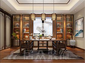 140平米別墅中式風格書房圖片