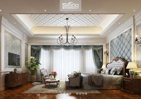 20万以上140平米别墅美式风格卧室图片