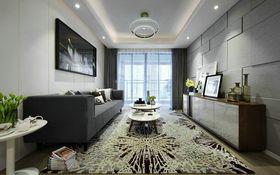 90平米三室两厅现代简约风格客厅背景墙图片