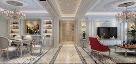 140平米三室两厅法式风格客厅装修案例
