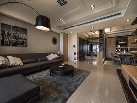 100平米三室一廳日式風格客廳設計圖