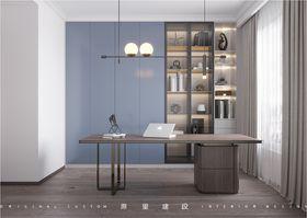 120平米三室一廳現代簡約風格書房圖片大全