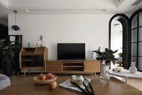 120平米三室一厅混搭风格客厅图