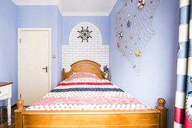 富裕型80平米三室两厅混搭风格卧室装修图片大全
