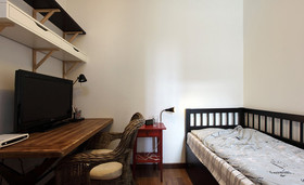 90平米混搭风格卧室设计图