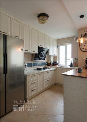 富裕型130平米三室一厅美式风格厨房欣赏图