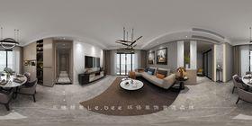 130平米四室兩廳現代簡約風格客廳效果圖