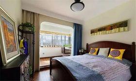 80平米三室一厅混搭风格卧室效果图