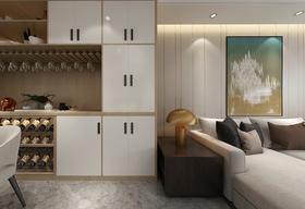 100平米三室一厅现代简约风格客厅装修图片大全