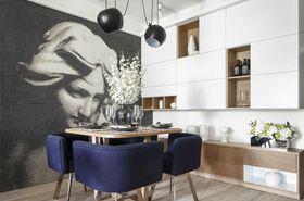 经济型80平米现代简约风格餐厅效果图