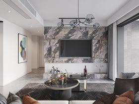 80平米三現代簡約風格客廳圖