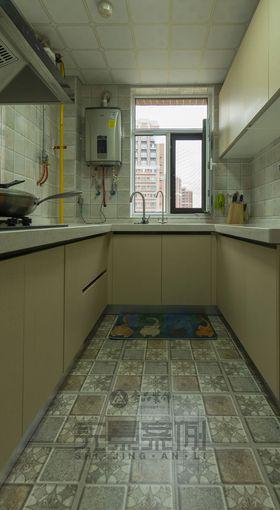 120平米三室一厅现代简约风格厨房欣赏图