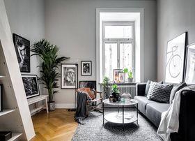 60平米一室一厅北欧风格客厅装修图片大全
