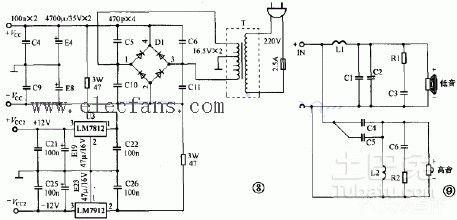 有源音箱就是音箱本身自带功放电路,插上220v电源,输入音频信号就