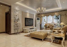 100平米三室两厅欧式风格客厅装修效果图