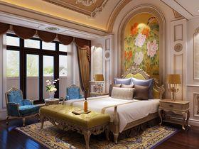 80平米别墅法式风格卧室装修案例
