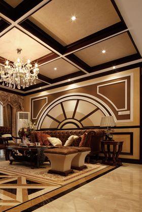 100平米三室两厅法式风格客厅装修案例