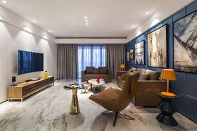 富裕型100平米现代简约风格客厅设计图