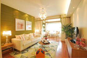 5-10万80平米三室两厅现代简约风格客厅装修案例