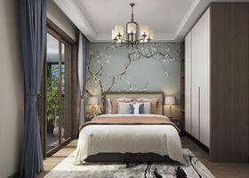 130平米三室一厅中式风格卧室装修效果图