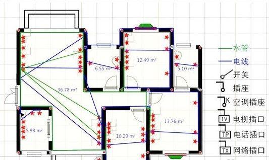 家装资讯 装修施工  正确做法:电路改造的正确做法是,强弱电应该分开