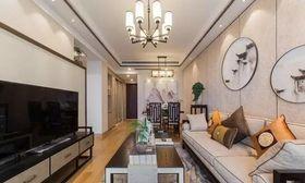5-10万80平米中式风格客厅装修图片大全