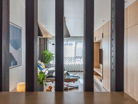 90平米三室一厅混搭风格玄关装修效果图