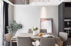 140平米四室兩廳現代簡約風格餐廳設計圖