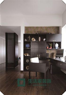 富裕型110平米三室两厅中式风格书房效果图
