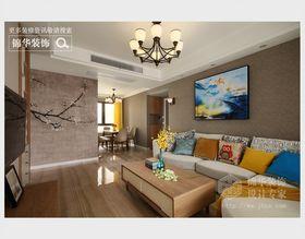 80平米三室兩廳現代簡約風格客廳沙發效果圖