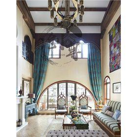 130平米三法式风格客厅设计图