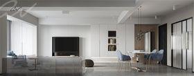 60平米三室兩廳現代簡約風格客廳欣賞圖