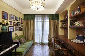 90平米三室一厅混搭风格书房装修图片大全