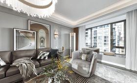 130平米四美式风格客厅装修图片大全