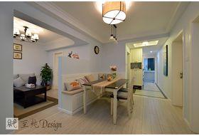 经济型110平米三室一厅混搭风格餐厅欣赏图