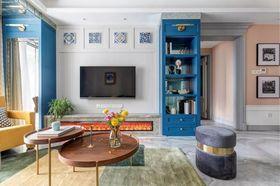 90平米三美式风格客厅装修图片大全