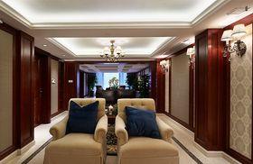 富裕型130平米三室两厅欧式风格影音室欣赏图