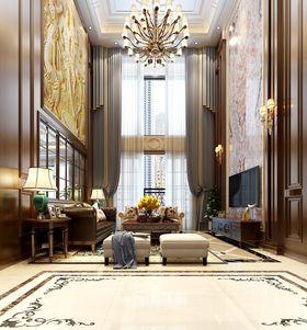 140平米別墅美式風格客廳裝修圖片大全
