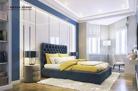 80平米现代简约风格卧室鞋柜设计图