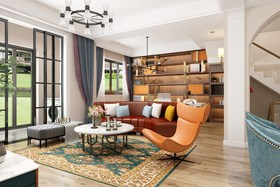 140平米复式北欧风格客厅装修案例