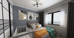 60平米三室两厅北欧风格卧室图