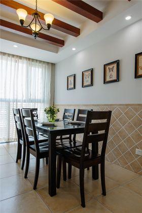 120平米三室两厅美式风格餐厅图片大全