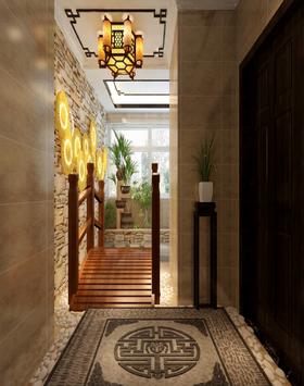 140平米四室两厅中式风格走廊图